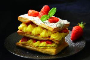 Recette Millefeuilles aux fraises gariguettes