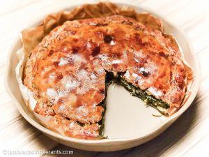 Recette Tourte aux blettes et épinards sans gluten ni lactose ni œuf