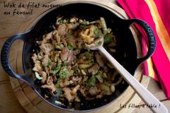 Recette Wok de filet mignon de porc au fenouil