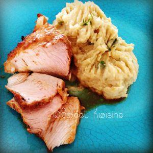 Recette Rouelle de porc rôtie à  l'orange