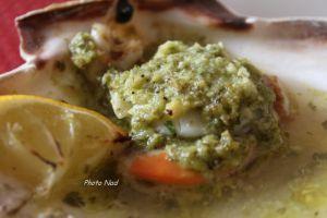 Recette Coquilles St Jacques au Beurre d'escargot