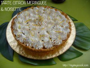 Recette Tarte citron meringuée & noisette