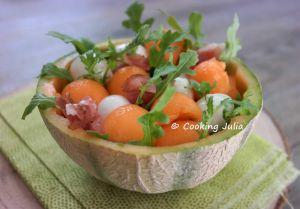 Recette Melon garni à l'italienne