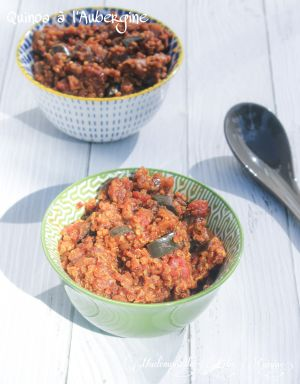 Recette Quinoa à l'Aubergine