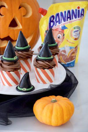 Recette Halloween #2 – Cupcakes au Banania Chapeaux de sorcière