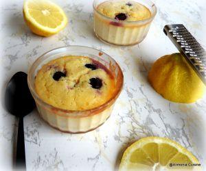 Recette Fondant au citron et myrtilles / Postre de limon y arándanos