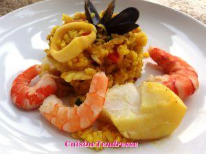 Recette Paella aux fruits de mer