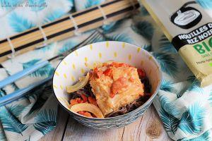 Recette Wok de cabillaud au lait de coco