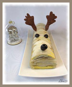 Recette Renne de foie gras aux poires