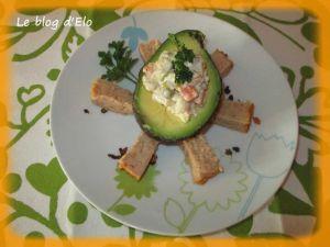 Recette Avocat garni