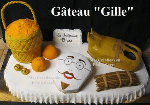 """Recette Gâteau Décoration """"Gilles"""" en Pâte à Sucre"""