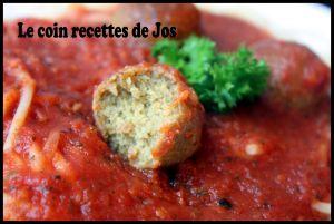 Recette Boulettes vegan