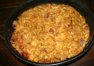 Recette Frittata pancetta, spaghetti