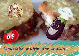 "Recette Mini moussaka ""muffin pan mania"" viande, aubergine, flocons d'avoine (sans gluten)"