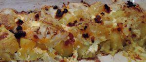 Recette Gratin de chou-fleur , pommes de terre au chorizo