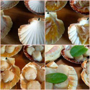 Recette Coquilles st jacques aux echalotes et risotto de corail