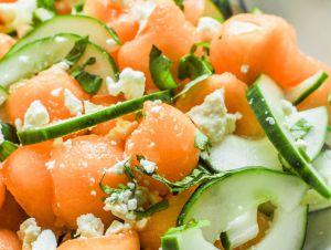 Recette Salade de concombre et cantaloup