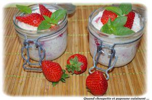 Recette Riz au lait a la fraise et a la vanille