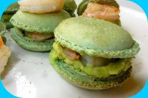 Recette Macarons salés avocat/crevette