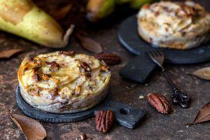 Recette Gâteau invisible aux poires, noix de Pécan et sirop d'érable