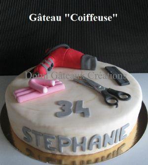 """Recette Gâteau """"Coiffeuse"""" en Pâte à Sucre"""