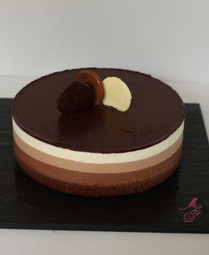 Recette Entremets trois chocolats