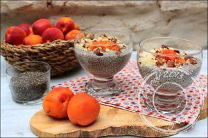 Recette Chia pudding noisette et abricots – sans lactose