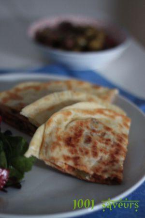 Recette Gozleme (crepes turques) à la viande hachée, poivron et mozzarella (en étapes)