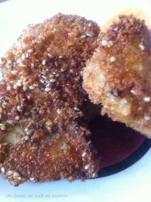 Recette Nuggets de poulet au cumin et aux graines de sésame