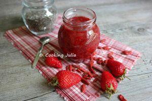 Recette Confiture de fraises aux graines de chia et baies de goji