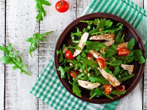 Recette Salade de poulet toute simple (restes de poulet)