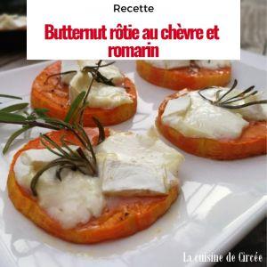 Recette Courge butternut rôtie chèvre et romarin
