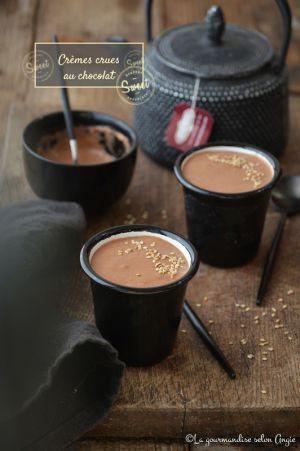 Recette Crèmes crues au chocolat & sésame #vegan #glutenfree