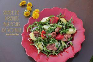 Recette Salade de pissenlit aux foies de volaille