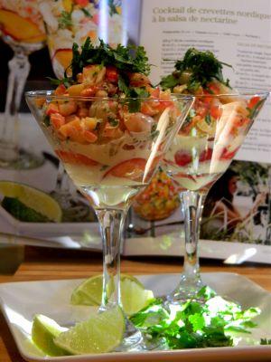 Recette Cocktail de crevettes à la salsa de nectarine