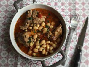 Recette Ragoût de mouton et coco de paimpol au cookeo