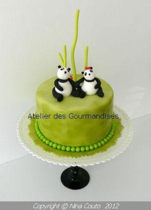Recette Gâteau Panda, modelages en pâte à sucre