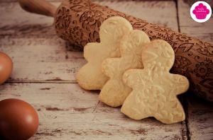 Recette Biscuits au beurre - forme bonhomme et rouleau à motifs