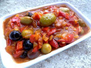 Recette Sauce poivron et olives pour pâtes