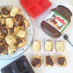 Recette Moelleux au chocolat blanc et pâte à tartiner