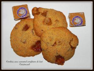 Recette Cookies au caramel confiture de lait et noix