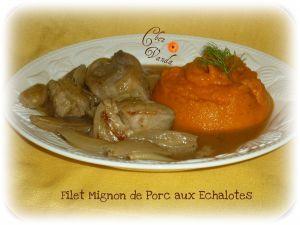 Recette Filet mignon de porc aux échalotes