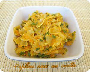 Recette Pâtes papillons sauce aux carottes & coriandre