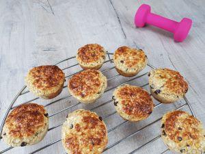 Recette Muffins protéinés à la whey banane et pepites de chocolat