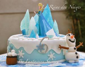 Recette Reine des Neiges: gâteau d'anniversaire 3D (pâte à sucre)