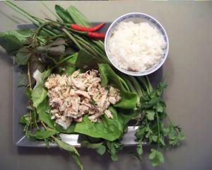 Recette Laab au poulet - salade de poulet à la laotienne