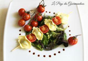 Recette Brochettes de ravioli aux couleurs de l'été