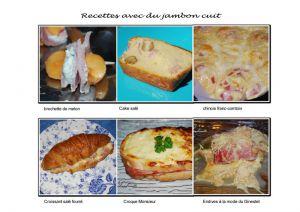 Recette Avec du jambon cuit
