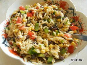 Recette Salade de risoni et haricots noirs