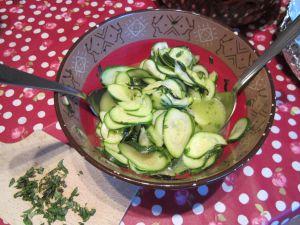 Recette Courgettes méditerranéennes - recette de salade de courgettes